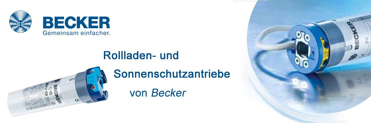 Rollladen- und Sonnenschutzantrieb mit mechanischer Endabschaltung für Wickelwellen von Becker